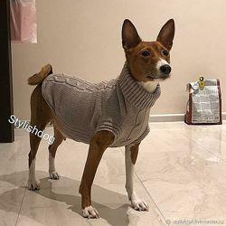 Шерстяной удобный свитер для собаки
