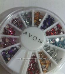 Набор для дизайна ногтей из разноцветных стразиков
