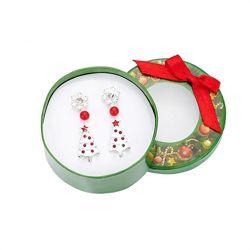 Новогодние сережки в подарочной упаковке