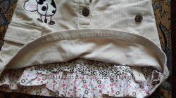 Юбка вельветовая с вышивкой