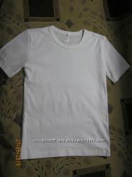 Классная белая футболка ТМ Бемби, 134