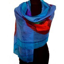 Шарф из натурального 100 silk шелка нежный, невесомый, красивенный
