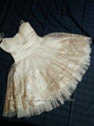 Праздничное платье BIRRIN миди с золотым узором 38р. на с, м