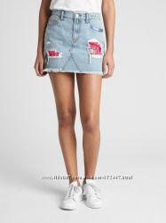 GAP, джинсовая юбка, S, р. 28