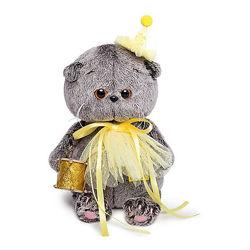 Мягкая игрушка Budi Basa Кот Басик Baby в колпачке с барабаном, 20 см