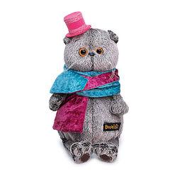 Мягкая игрушка Budi Basa Кот Басик в бархатном кашне, 30 см