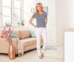 Стильные женские белоснежные  SlimFit джинсы р. 42, 44, 48наш  TCM Tchibo