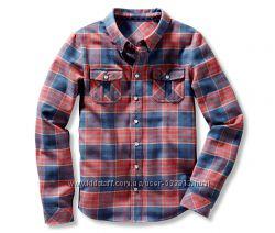 Классная детская фланелевая рубашка р. 134-140  TCM Tchibo