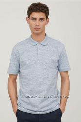 Отличная мужская хлопковая футболка  поло р. М-ка, L-ка   H&M