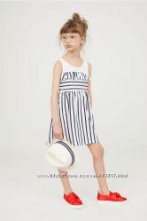 Красивый детский хлопковый сарафан платье на 2-4, 4-6, 6-8 лет H&M