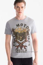 Стильная хлопковая мужская футболка C&A кунда р. S, М-ка