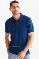 Отличная темно-синяя мужская хлопковая футболка поло р. S, М, L, XL-ка  C&A
