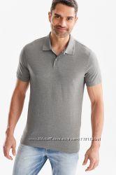 Отличная серая мужская  футболка поло р. S, М, L, XL-ка C&A кунда