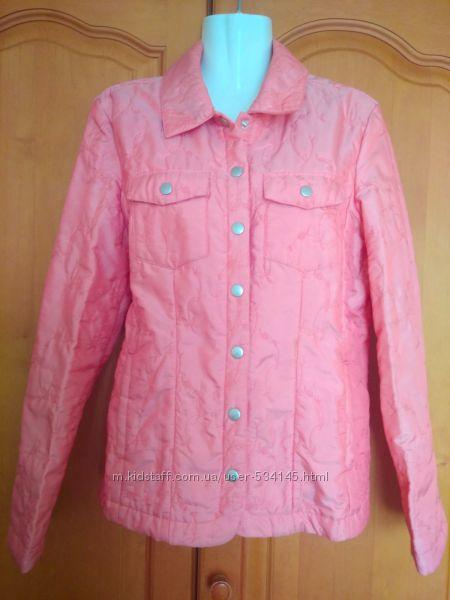 Куртка ветровка стеганая розовая