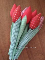 Текстильные тюльпаны. В наличии.