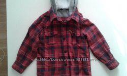 Рубашка с капюшоном George 2-4 года и двойная на 3-5 лет