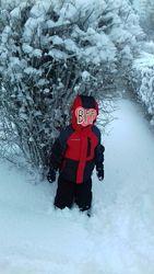 Зимняя курточка на 3-5 лет, шапка в подарок