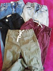 Разные зауженные джинсы, брюки на мальчика 3-6 лет, H&M и next
