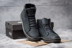 Стильные зимние мужские ботинки-кроссы ECCO кожа