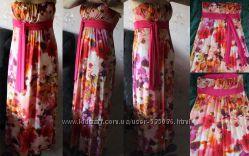 Продам очень красивый и нарядный сарафан, яркий в цветах, в пол. США