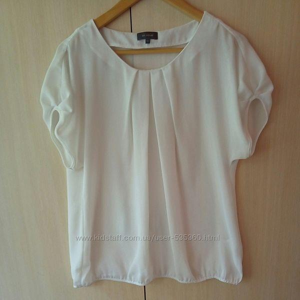 ТОРГ  Блуза белая красивая объемная стильная размер 52-16 легкая