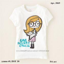 Яркие красивые футболки на 5-6 лет CHILDRENS PLACE, CRAZY8, OSHKOSH