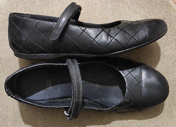 Кожаные туфли Clarks, p. uk2f, cтелька 22. 3см