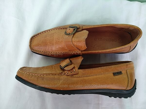 Туфли-мокасины кожаные G&acuteFIELD разм.38 женские, мягкие удобные
