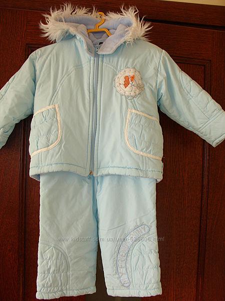 Комплект зимний для девочки, размер 86