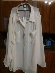 Прекрасная белая рубашка блуза 22 размер