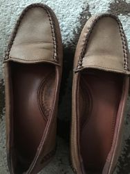 Кожаные комфортные макасины -туфли на девочку