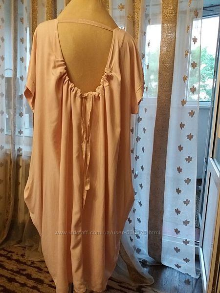 Батальное нарядное летнее платье