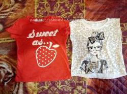 Фирменные футболочки и маечки на девочку 5-6 лет