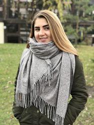 Тёплый кашемировый шарф