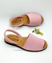 Кожаные сандалии, абаркасы, босоножки Нубук Замша Кожа