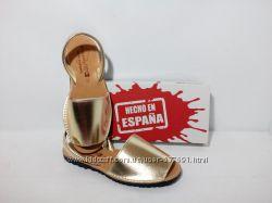 Абаркасы золотые, качественная испанская обувь, менорки