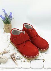 Демисезонные ботинки, замша, детские.