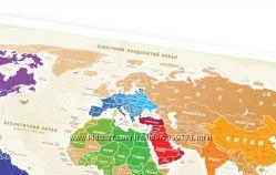 Скретч карта світу Travel map золото, укр.