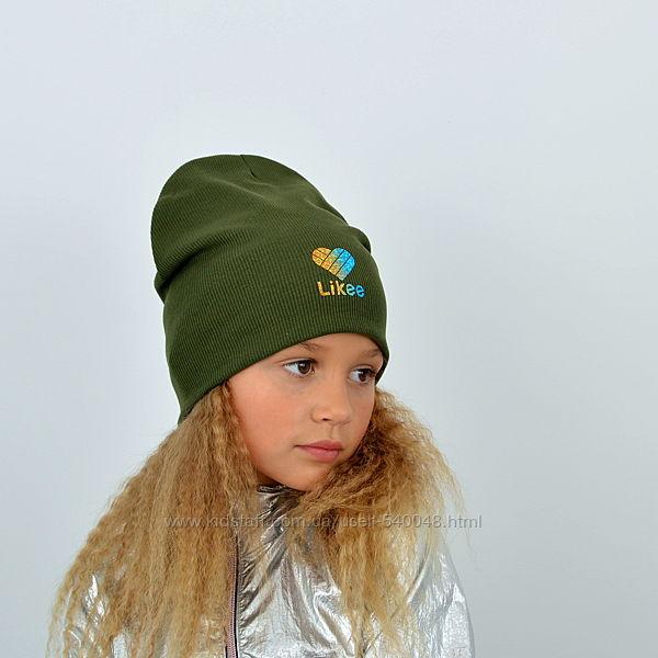 Детская трикотажная шапка Рубчик без отворота