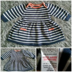 Теплое платье 0-3