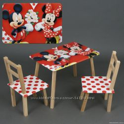 Детский столик Лунтик, Ну погоди, M 1432, M 1433, M 1434  со стульчиками