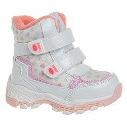 Дутики зимние для девочки Сказка R873637217 W 22-26 бело розовые