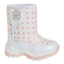 Дутики зимние для девочки Сказка R873637216 W 24-26 бело розовые