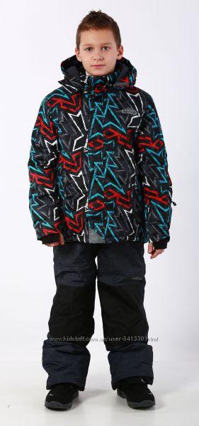Акция Зимняя термокуртка 98-134р Граффити PIDILIDI черная