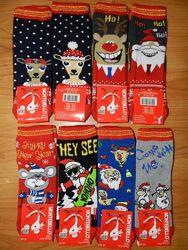 Детские новогодние носочки. Размеры 22-36
