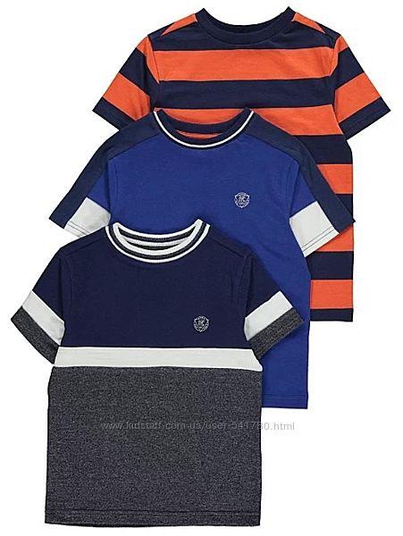 Красивые фирменные футболки H&M,  George 4-10 лет