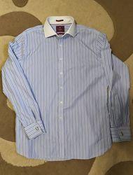 Отличная мужская рубашка Marks and Spencer Luxury L укр 52-54