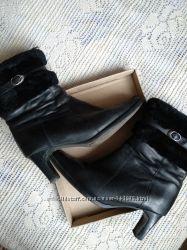 Зимние сапоги каблук  janita, финляндия, натуральная кожа, 41 размер