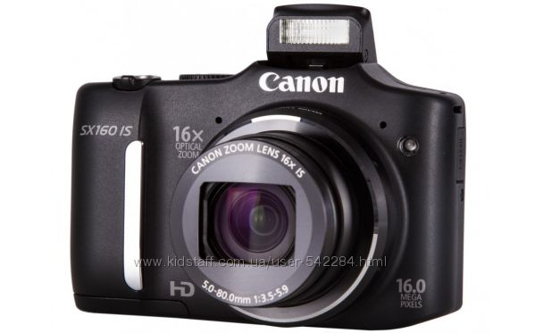 Фотокамера Canon PowerShot SX160 IS Black