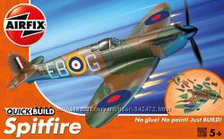 Британский истребитель Spitfire быстрая сборка без клея